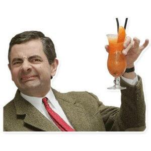 Мистер Бин выпивает