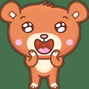 стикеры медвеженок Бернард