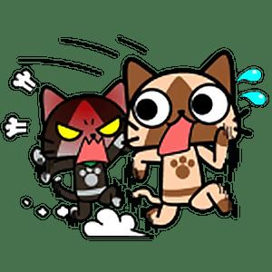 Стикеры коты охотники на чудовищ