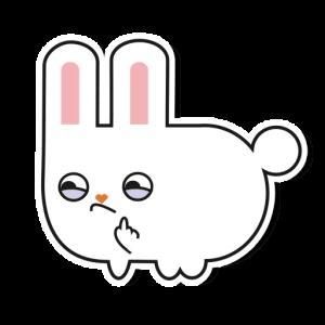 кролик Бэн стикеры