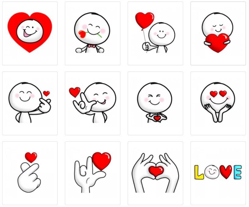 Стикеры Любовь Любовь