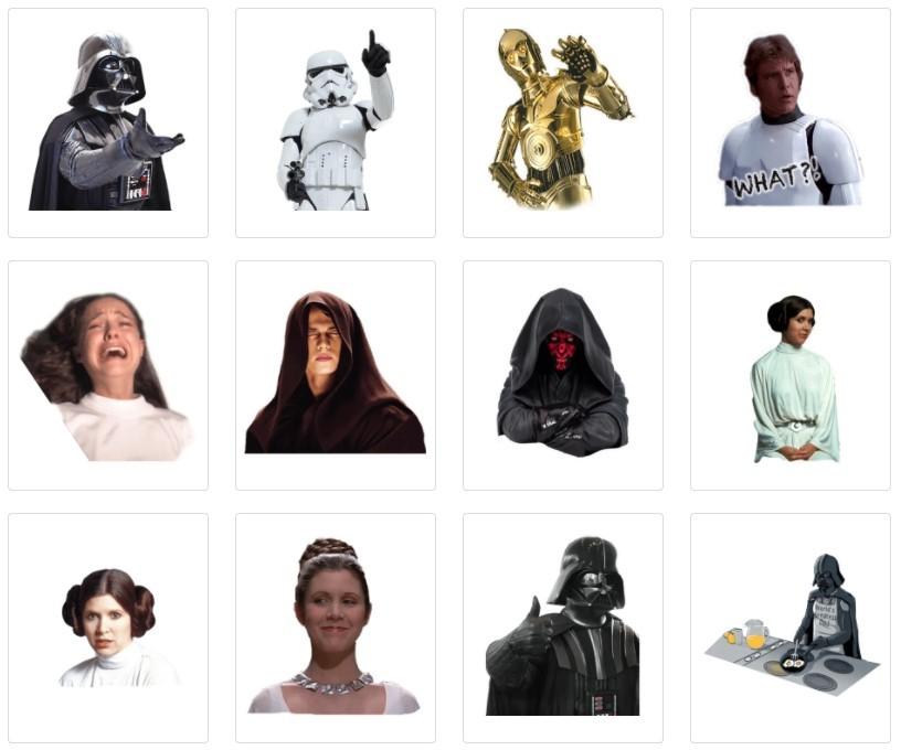 стикеры Звездные войны