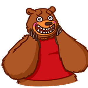 стикеры Медведь Михаил для Телеграм