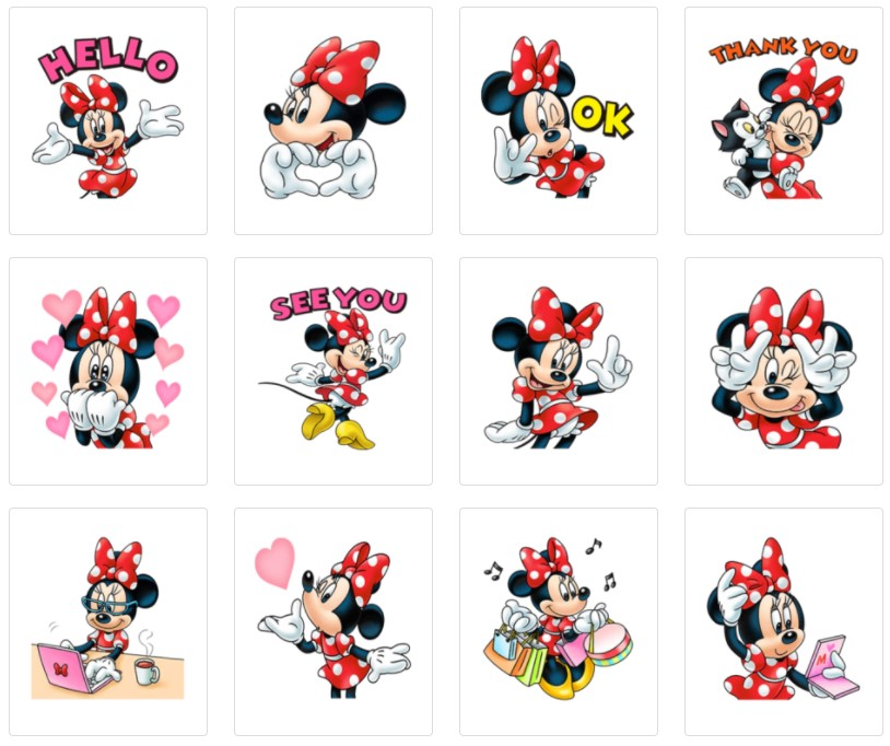 стикеры Микки Маус для Телеграм