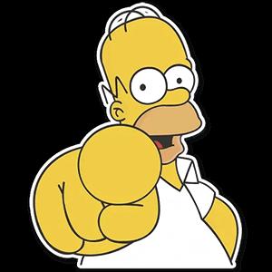 стикеры Гомер Симпсон