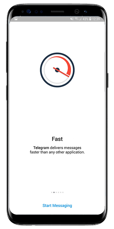 приветственный экран telegram