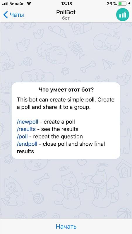 что умеет бот для голосования pollbot