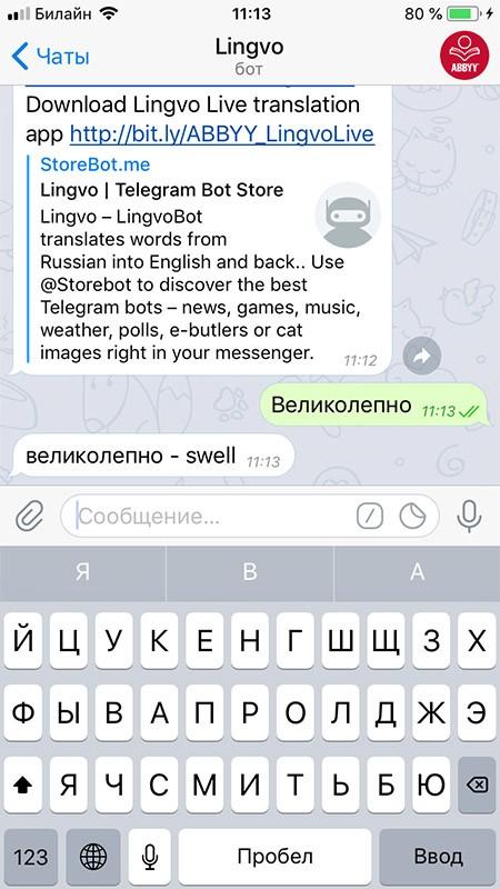как работает lingvo bot