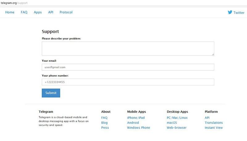 техническая поддержка через официальный сайт разработчика