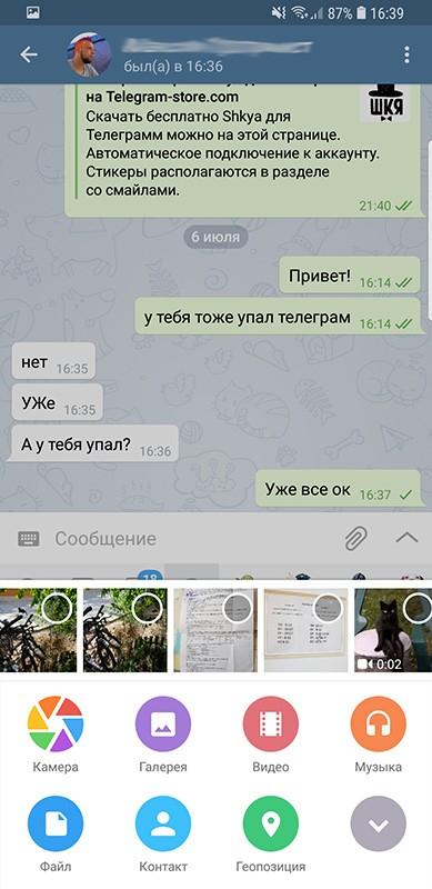 отправка файлов в телеграм
